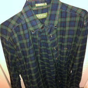 Men's lightweight flannel button down